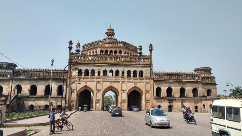 Índia de Lucknow da porta de Roomi fotografia de stock