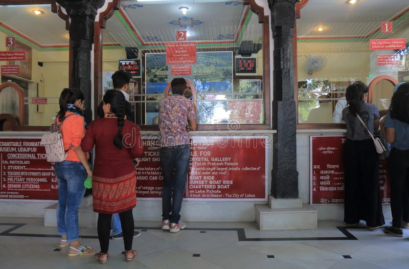 Índia de Udaipur do palácio da cidade imagem de stock royalty free
