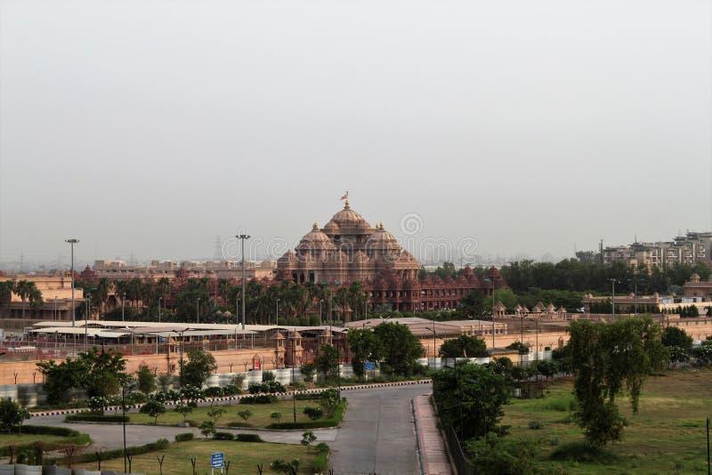 ÍNDIA, Deli, Nova Deli, Deli velha, TEMPLO de AKSHARDHAM imagens de stock royalty free