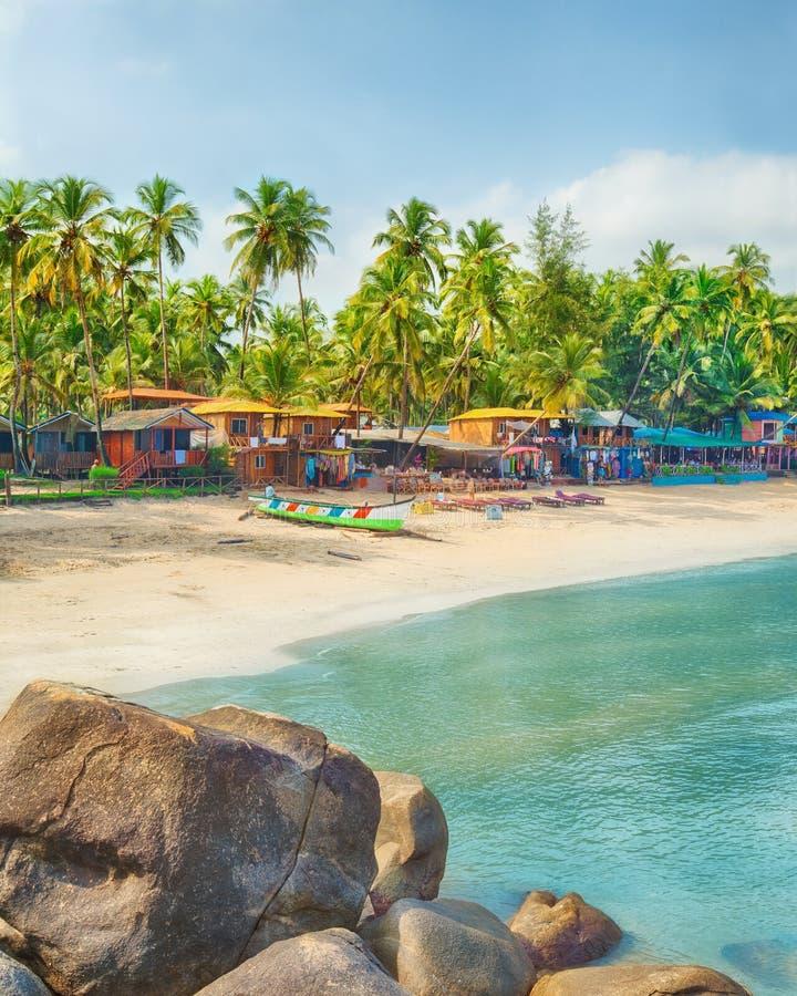 Índia, Goa, praia de Palolem imagens de stock royalty free