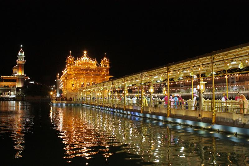 ÍNDIA, templo de Goldem amritsar imagem de stock
