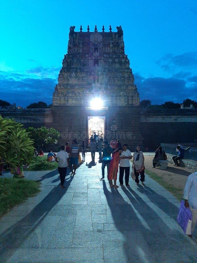 Índia, templo sul Architectur velho de Shiva do indiano, vellore imagens de stock royalty free
