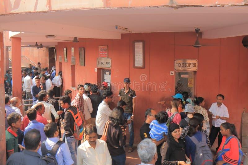 Índia vermelha de Nova Deli do castelo do forte imagens de stock