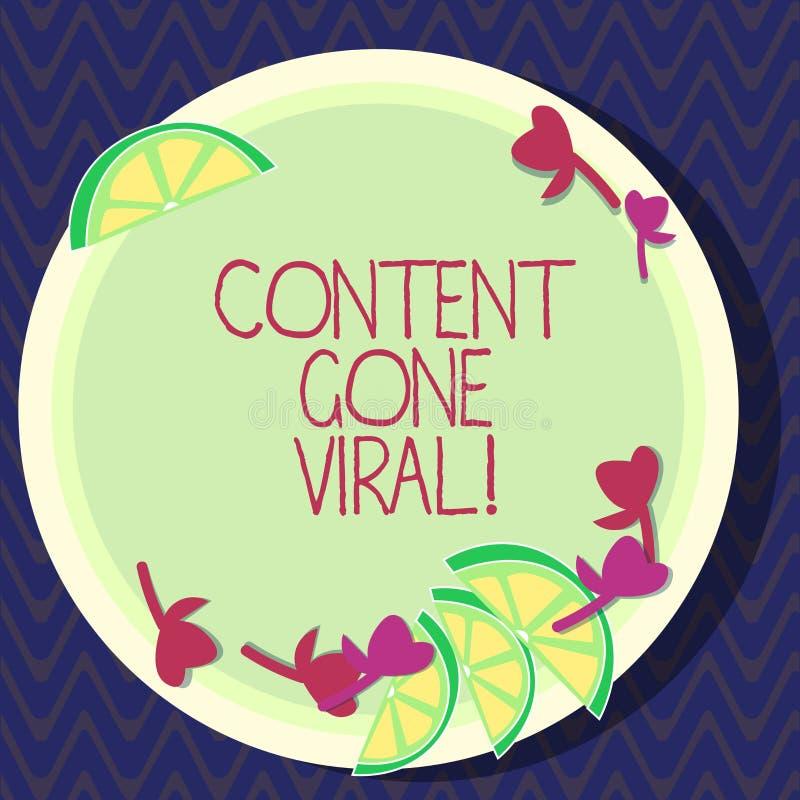 Índice da exibição do sinal do texto ido viral Relação video da imagem conceptual da foto que espalha rapidamente através dos ent ilustração stock