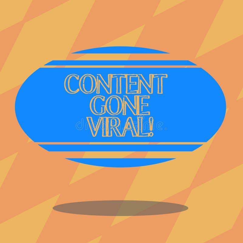 Índice da exibição do sinal do texto ido viral Relação video da imagem conceptual da foto que espalha rapidamente através da plac ilustração stock