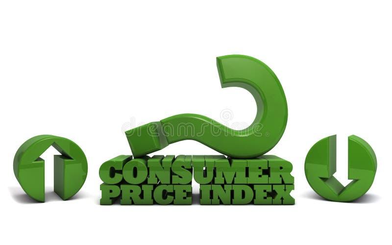 Índice de preços de consumo - inflação imagem de stock