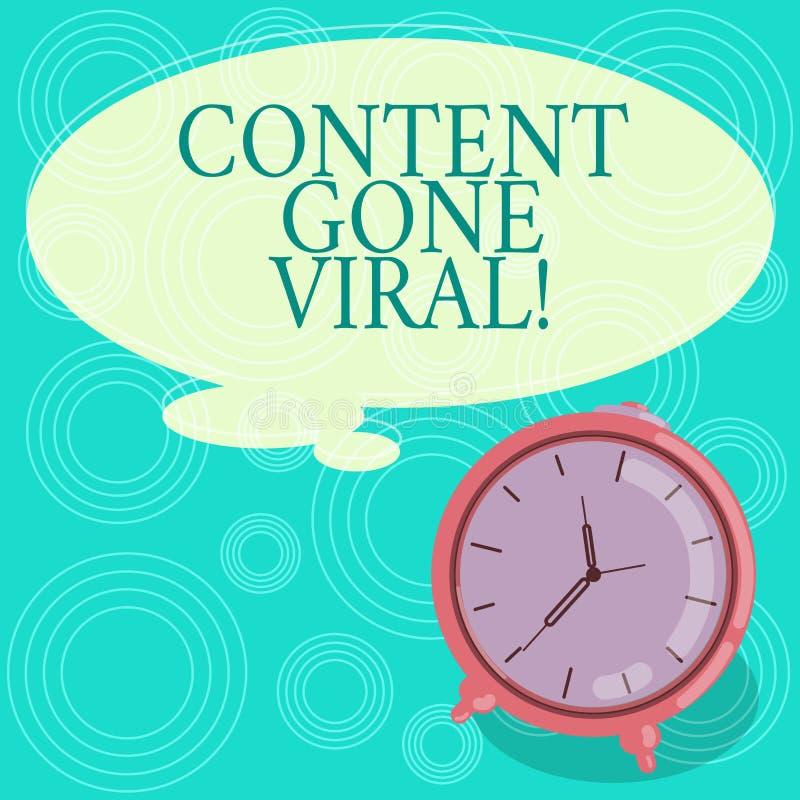 Índice do texto da escrita ido viral Relação video da imagem do significado do conceito que espalha rapidamente através da placa  ilustração do vetor