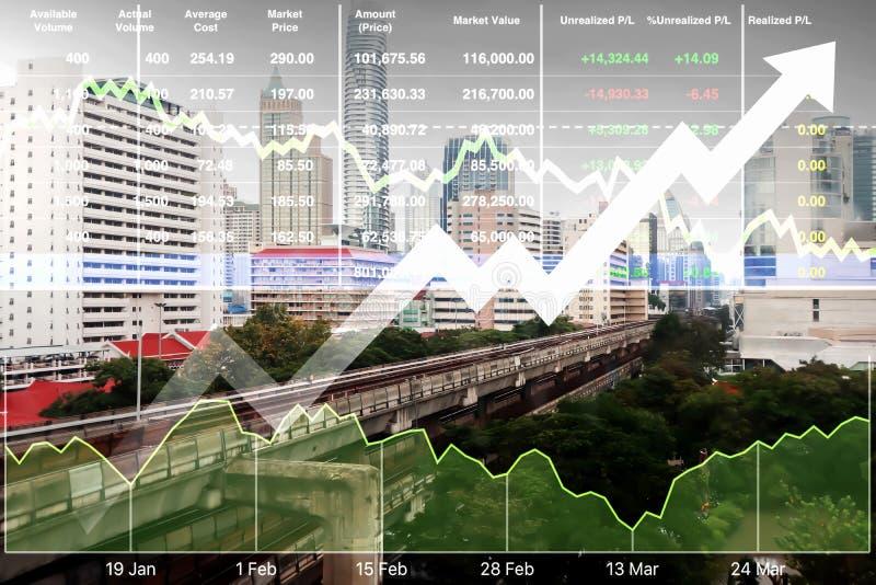 Índice financiero común de la inversión acertada en el transporte imagen de archivo