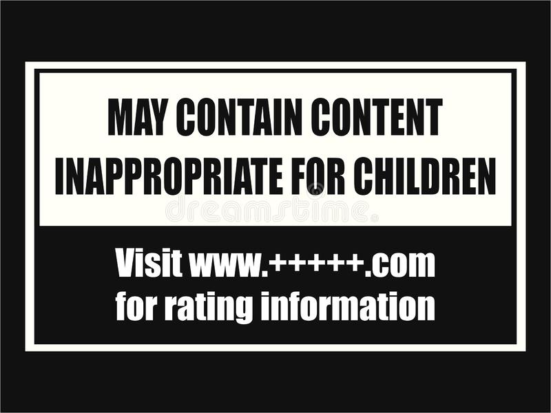 Índice impróprio para a placa do cuidado das crianças ilustração royalty free