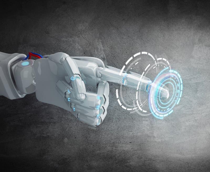 Índice metálico del punto de la mano del robot libre illustration
