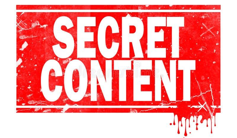 Índice secreto no quadro vermelho ilustração stock
