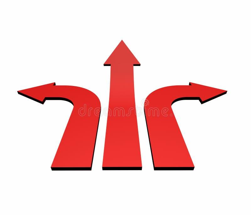 Índices rojos 01 de las flechas ilustración del vector