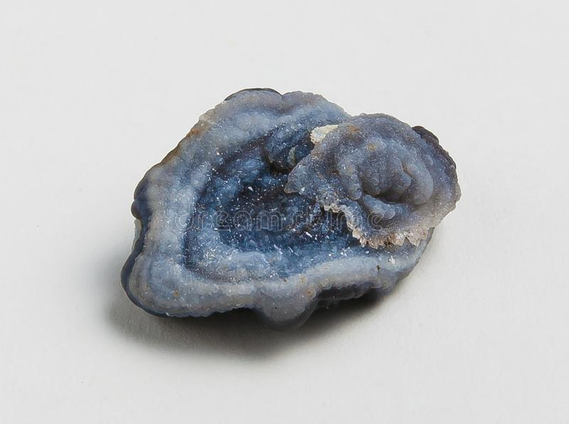 Íon azul da calcedônia do minério imagens de stock