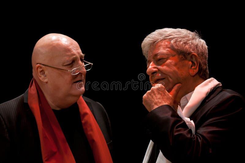 Íon Dichiseanu e Constantin Cotimanis fotografia de stock