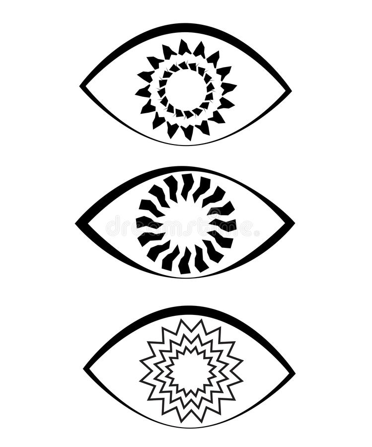 Íris da espiral do ícone do olho ilustração stock