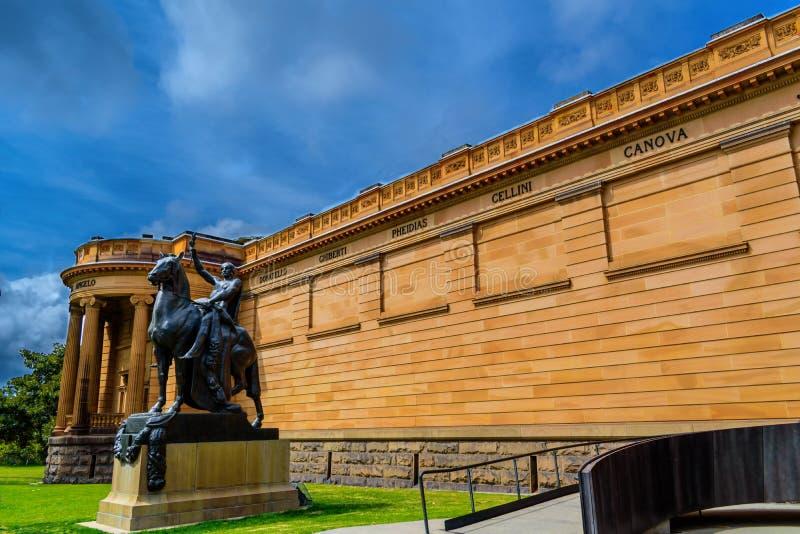 Άγαλμα και γκαλερί τέχνης της Νότιας Νέας Ουαλίας στο Σίδνεϊ στοκ εικόνες με δικαίωμα ελεύθερης χρήσης