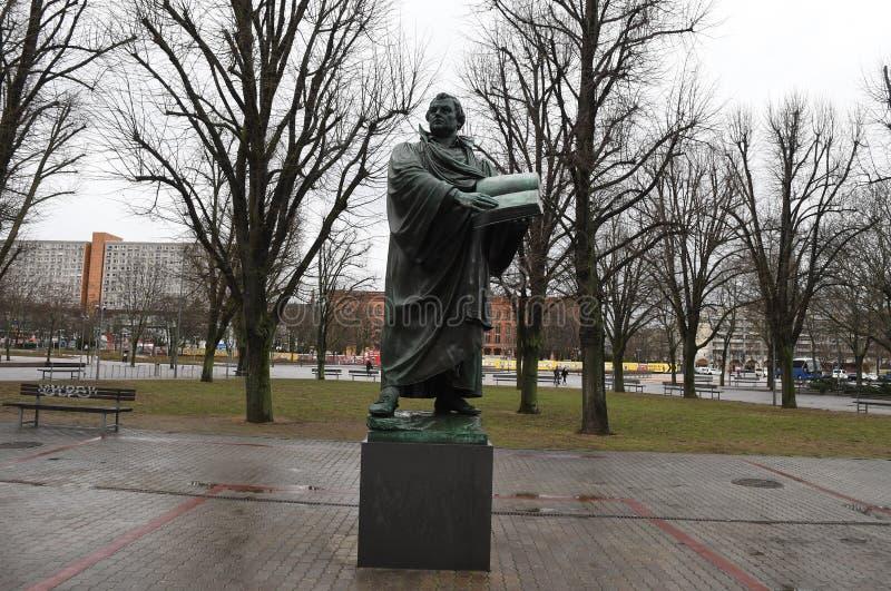 Άγαλμα του Martin Luther στο Βερολίνο Γερμανία στοκ φωτογραφία