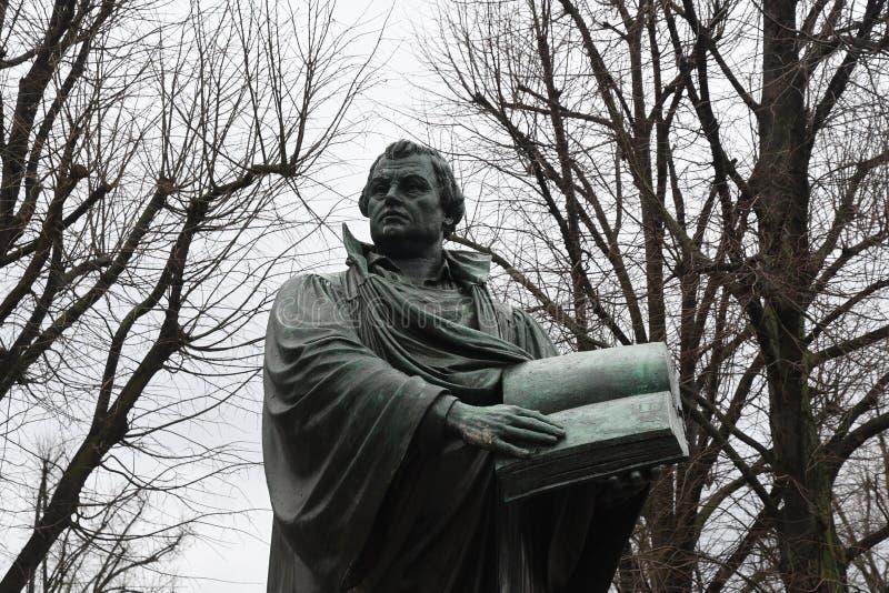 Άγαλμα του Martin Luther στο Βερολίνο Γερμανία στοκ εικόνες