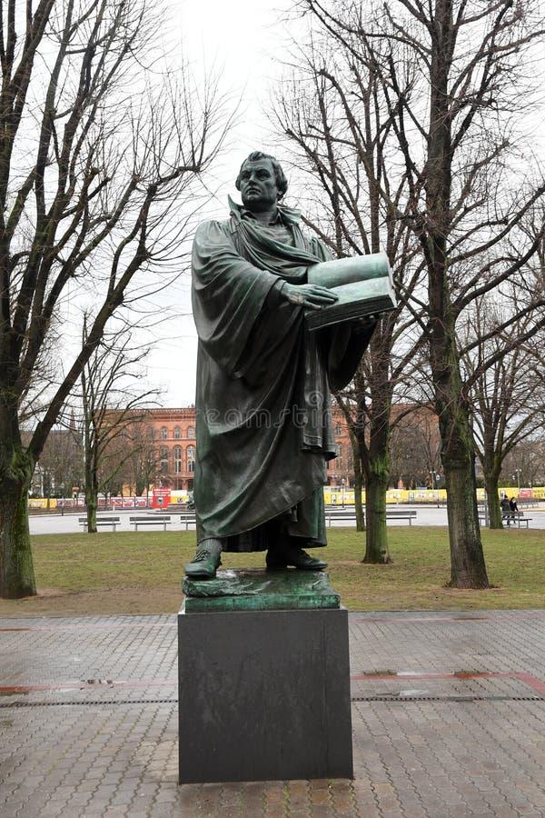Άγαλμα του Martin Luther στο Βερολίνο Γερμανία στοκ φωτογραφία με δικαίωμα ελεύθερης χρήσης