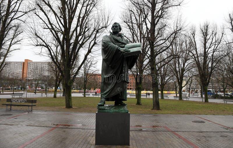 Άγαλμα του Martin Luther στο Βερολίνο Γερμανία στοκ φωτογραφίες με δικαίωμα ελεύθερης χρήσης