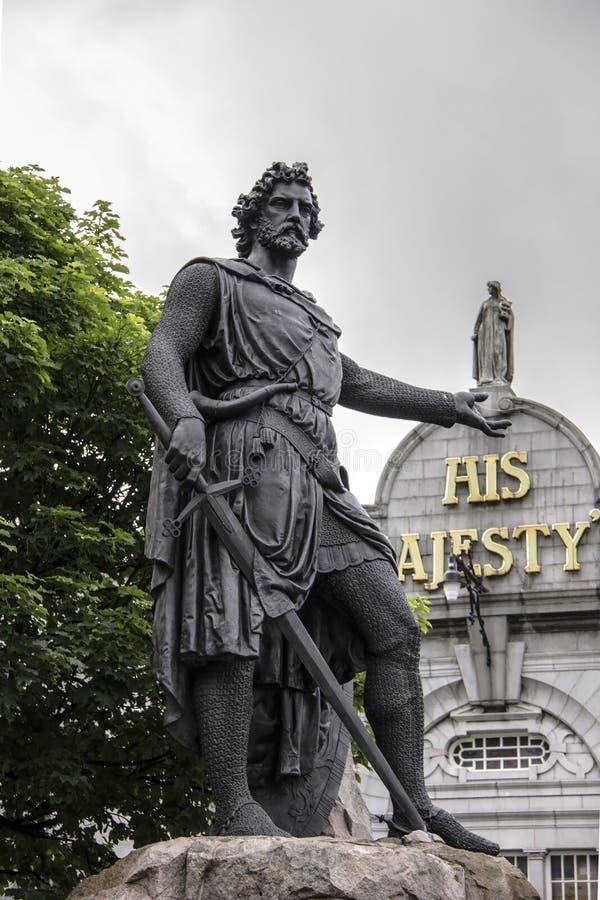 Άγαλμα του William Wallace, Αμπερντήν, Σκωτία στοκ εικόνες