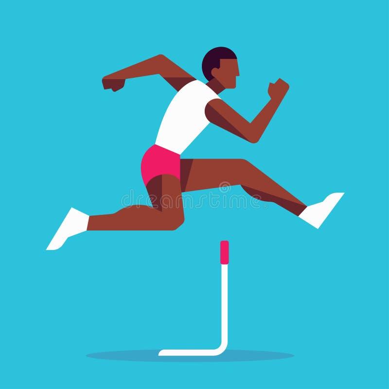 Άλμα αθλητών αγώνων εμποδίων ελεύθερη απεικόνιση δικαιώματος