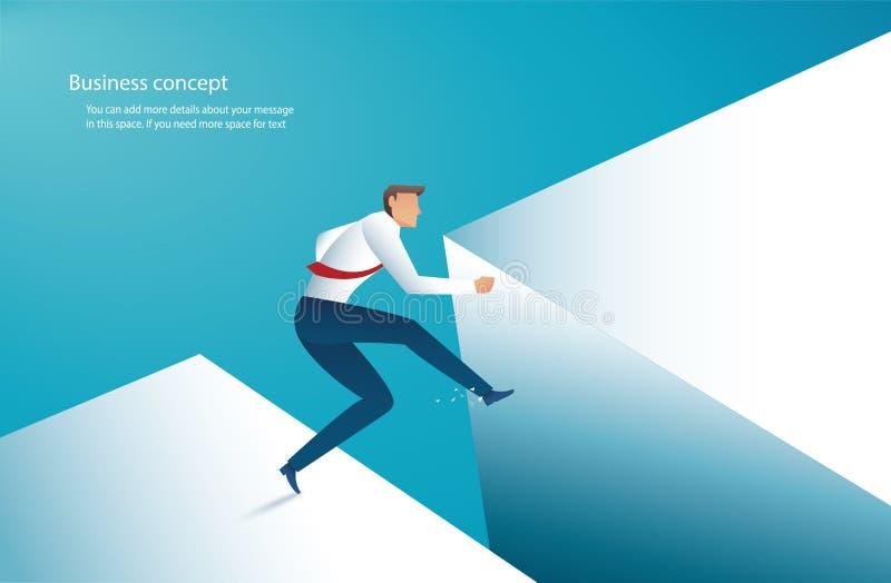 Άλμα επιχειρηματιών πέρα από το χάσμα στη διανυσματική απεικόνιση eps10 επιτυχίας απεικόνιση αποθεμάτων