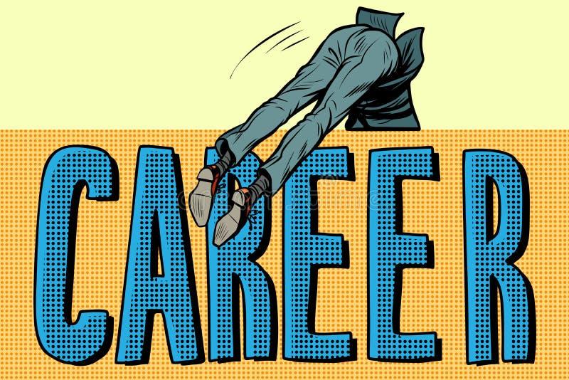 Άλμα σταδιοδρομίας επιχείρηση επιχειρηματιών ελεύθερη απεικόνιση δικαιώματος