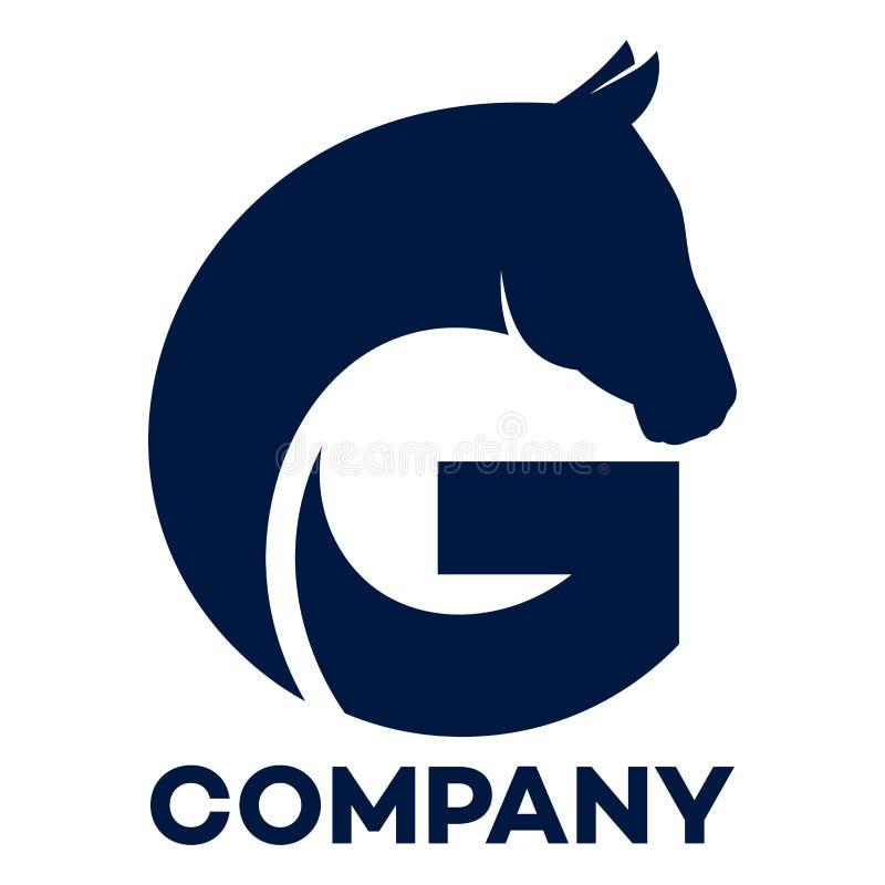 Άλογο και συνδεμένο λογότυπο επιστολών Γ επιχείρηση ελεύθερη απεικόνιση δικαιώματος