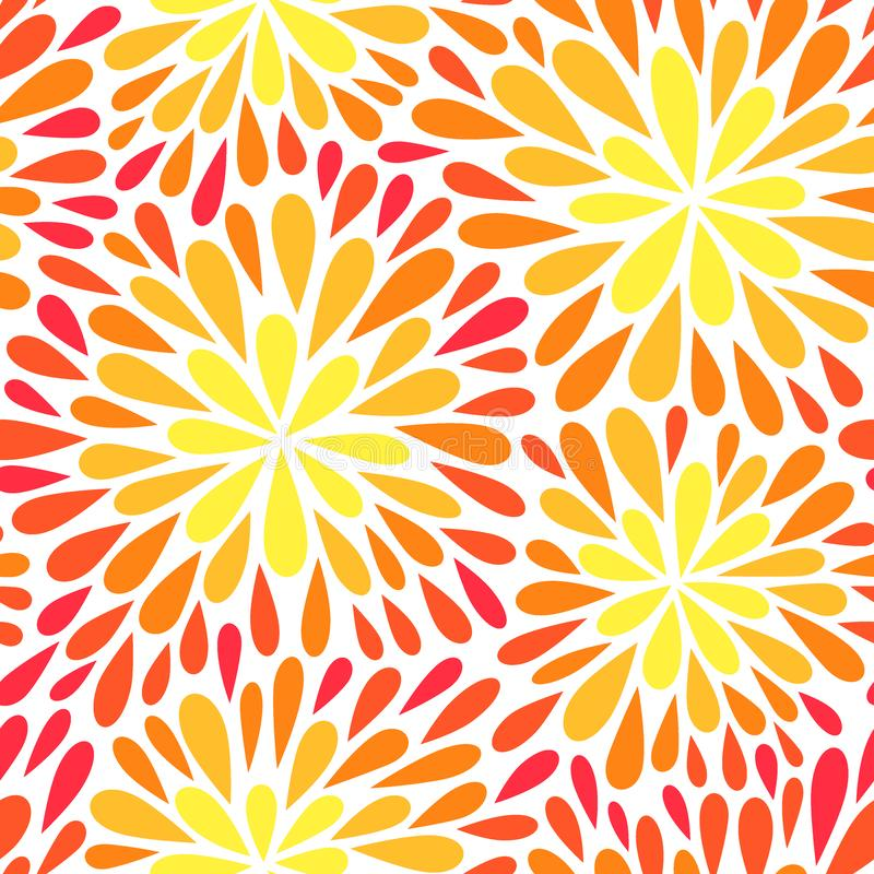 Άνευ ραφής διανυσματικό σχέδιο με τα λουλούδια Διανυσματική απεικόνιση με τα πυροτεχνήματα διανυσματική απεικόνιση