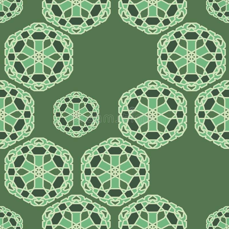 Άνευ ραφής διανυσματικό σχέδιο με την ασιατική γεωμετρική διακόσμηση διανυσματική απεικόνιση