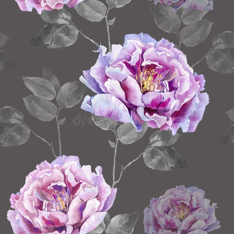 Άνευ ραφής σχέδιο λουλουδιών για το textil ή την ταπετσαρία στοκ εικόνες