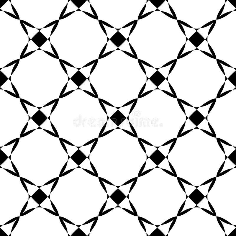 Άνευ ραφής σχέδιο με τις γεωμετρικές μορφές, μονοχρωματική απεικόνιση ελεύθερη απεικόνιση δικαιώματος