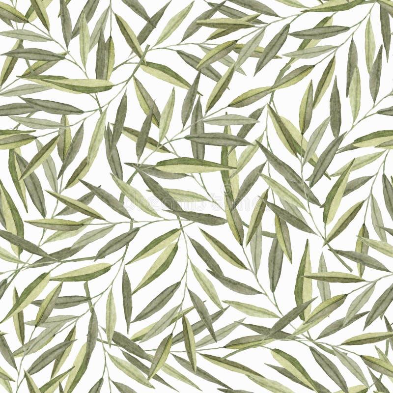 Άνευ ραφής σχέδιο με τους κλάδους watercolor στοκ φωτογραφία με δικαίωμα ελεύθερης χρήσης