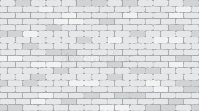 Άνευ ραφής υπόβαθρο σύστασης τουβλότοιχος σχεδίων άσπρο ή γκρίζο ελεύθερη απεικόνιση δικαιώματος