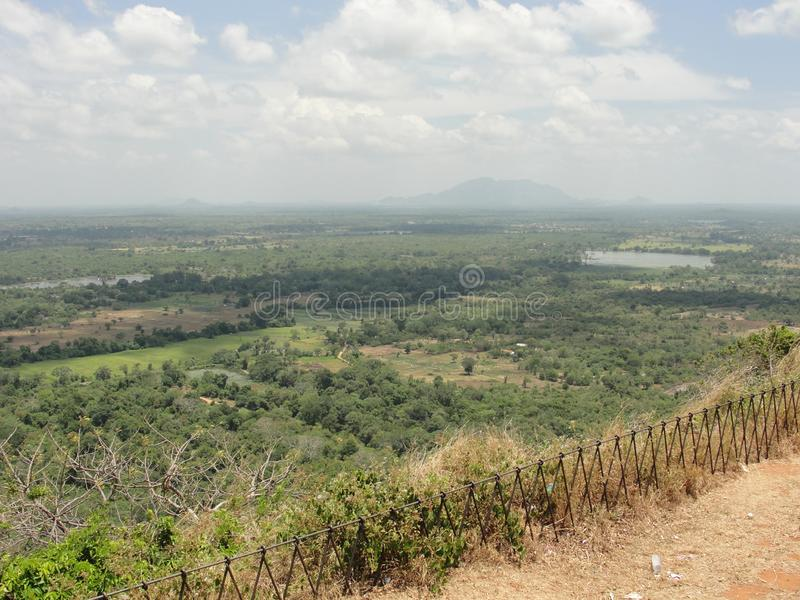 Άποψη από το βράχο Σρι Λάνκα Sigiriya στοκ φωτογραφίες με δικαίωμα ελεύθερης χρήσης
