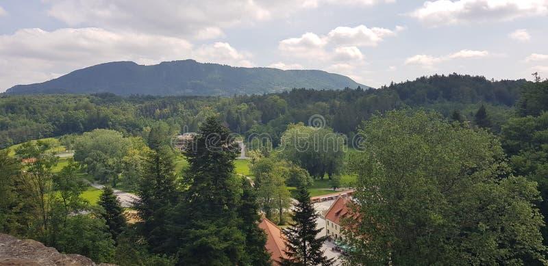 Άποψη από το κάστρο σε VaraÅ ¾ DIN στοκ εικόνα με δικαίωμα ελεύθερης χρήσης
