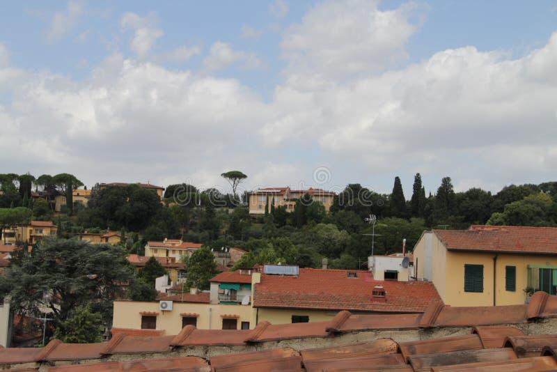 Άποψη από το μπαλκόνι του σπιτιού σε Fiesole, Ιταλία στοκ φωτογραφία