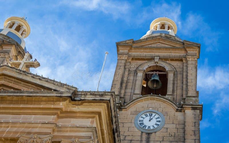 Άποψη λεπτομέρειας σχετικά με την εκκλησία κοινοτήτων του ST Mary σε Dingli Παλαιό, ιστορικό και αυθεντικό χριστιανικό παρεκκλησι στοκ φωτογραφίες