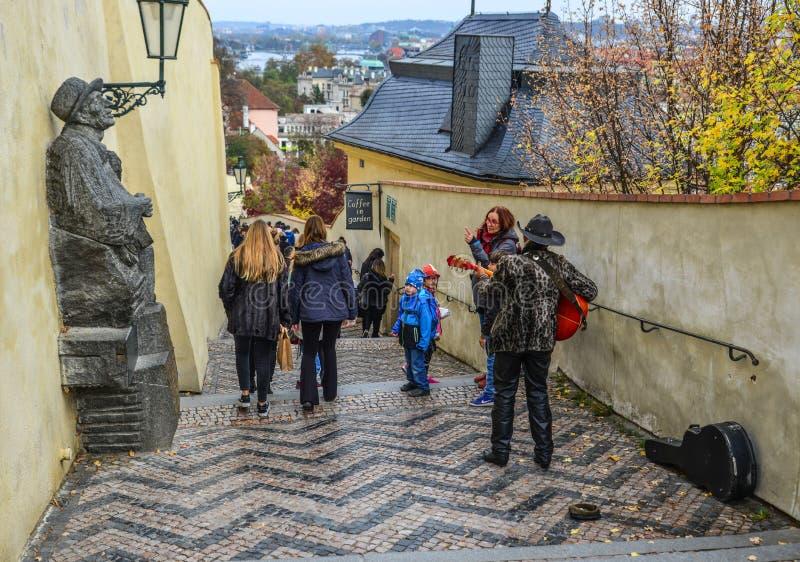 Άποψη οδών της Πράγας, Δημοκρατία της Τσεχίας στοκ εικόνες