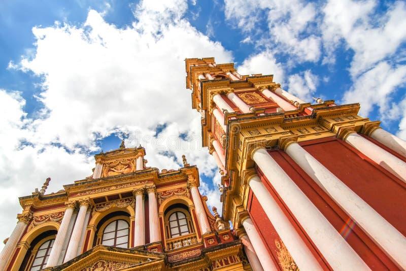 Άποψη σχετικά με την εκκλησία Αγίου Francis σε Salta, Αργεντινή στοκ εικόνες