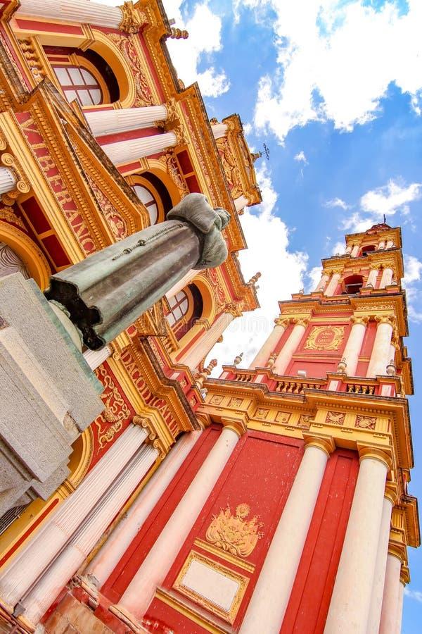 Άποψη σχετικά με την εκκλησία Αγίου Francis σε Salta, Αργεντινή στοκ εικόνες με δικαίωμα ελεύθερης χρήσης