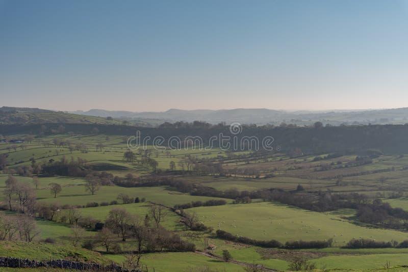 Άποψη της κοιλάδας περιστεριών από το Hill Hitter στοκ εικόνα