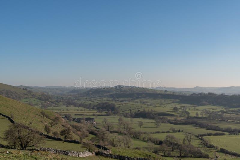 Άποψη της κοιλάδας περιστεριών από το Hill Hitter στοκ φωτογραφία