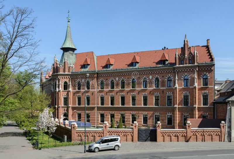 Άποψη της υψηλότερης πνευματικής ακαδημίας της Κρακοβίας από το Wawel Castle Ο σχολή είναι ένας κλάδος του παπικού πανεπιστημίου  στοκ φωτογραφία