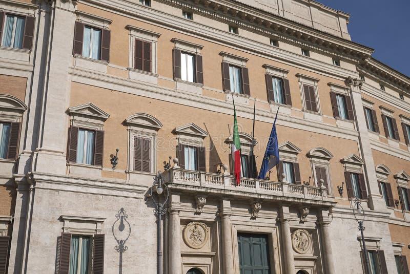Άποψη Palazzo Montecitorio στοκ εικόνα