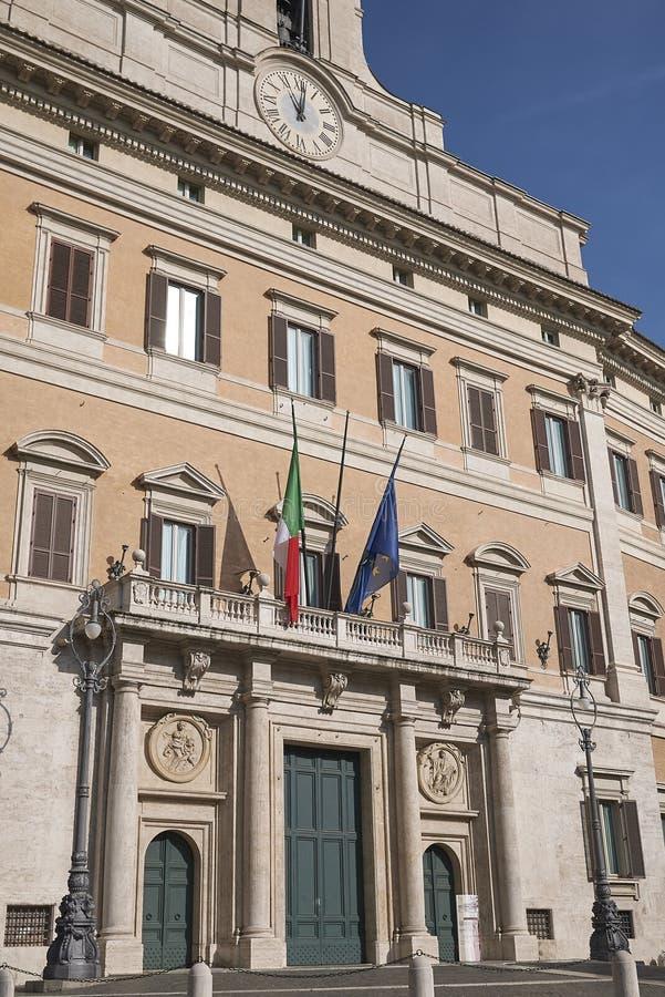 Άποψη Palazzo Montecitorio στοκ εικόνα με δικαίωμα ελεύθερης χρήσης