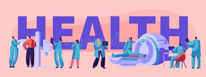 Έμβλημα τομογραφίας κλινικών Ιατρικού κέντρου νοσοκομείων διαγνωστικό τμήμα υπολογιστών υγειονομικής περίθαλψης υπομονετικό υγιές απεικόνιση αποθεμάτων