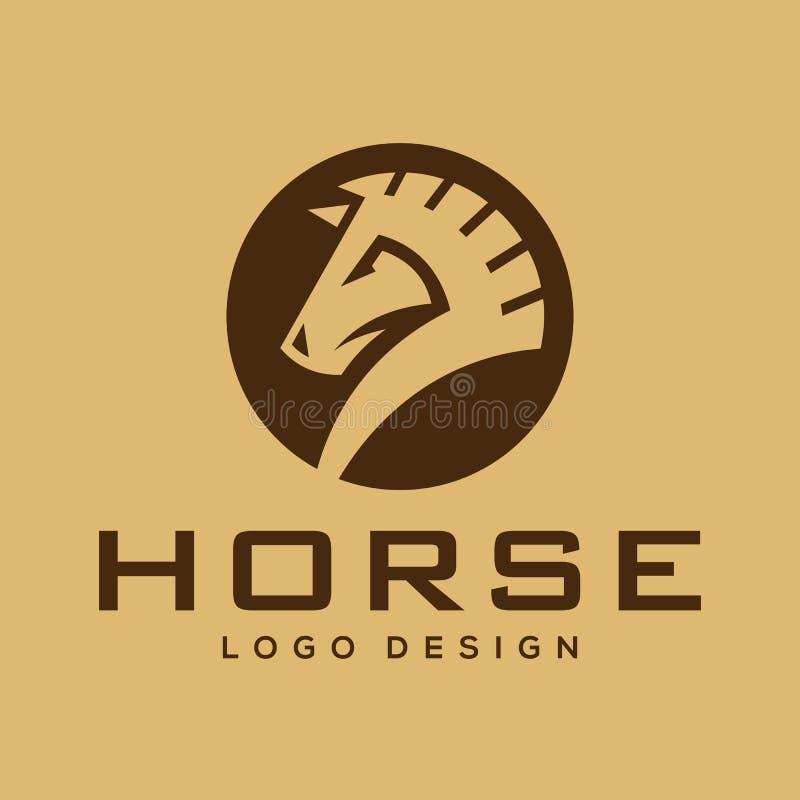 Έμπνευση σχεδίου λογότυπων αλόγων σκακιού ελεύθερη απεικόνιση δικαιώματος