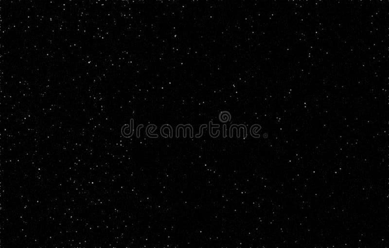 Έναστρος ουρανός, γραπτό υπόβαθρο, άσπρα αστέρια στο Μαύρο, νυχτερινός ουρανός, διασπορά των αστεριών απεικόνιση αποθεμάτων